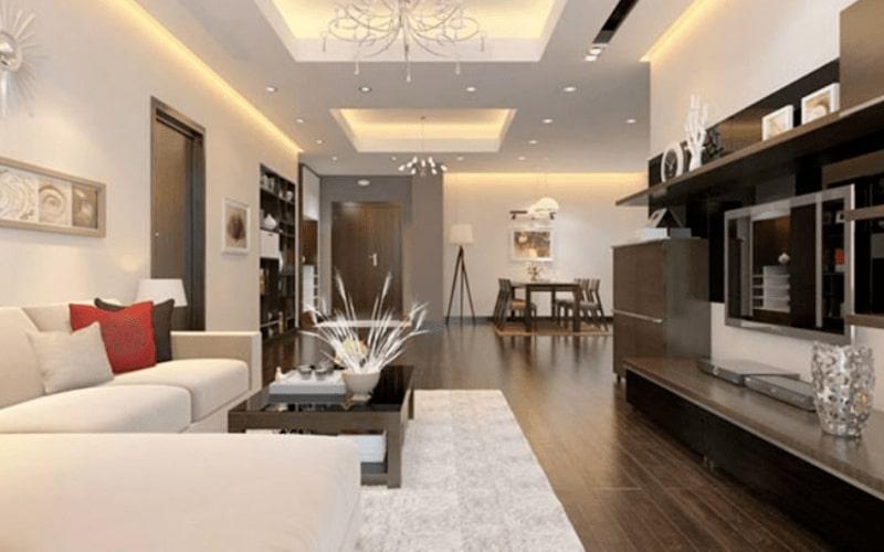 Không gian nội thất màu dịu nhẹ hài hòa