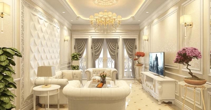 Không gian thiết kế phong cách tân cổ điển