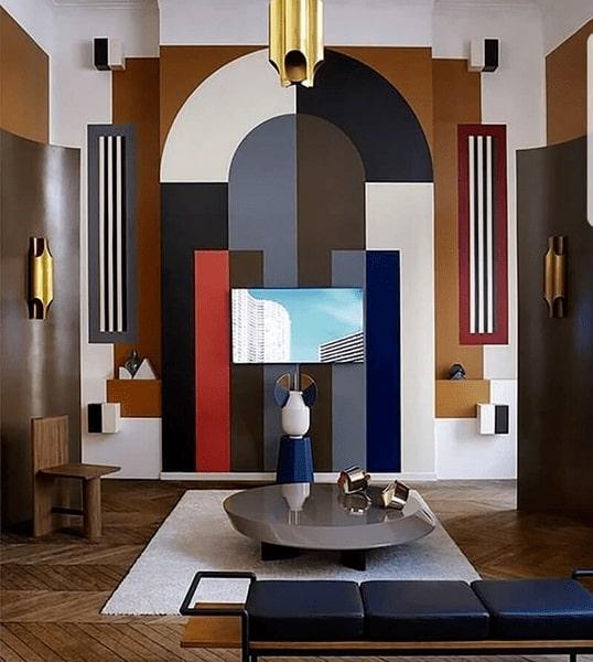 Sức hút của phong cách thiết kế nội thất nằm ở yếu tố hình học