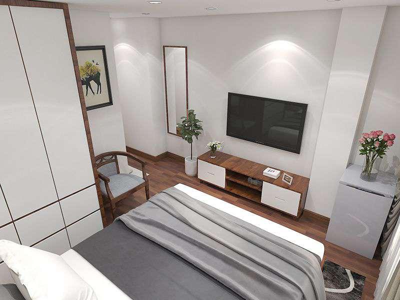 Thiết kế nội thất căn biệt thự hiện đại với những khối hình học ấn tượng